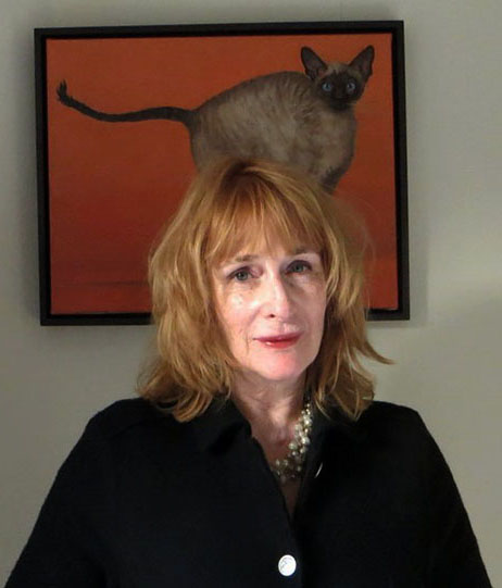 Robin Paine with portrait of cat